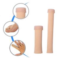 Neue Ankunft Füße Finger Corrector Einlegesohlen Stoff Gel Silikon Rohr Bunion Toe Separator Teiler Beschützer LX2885