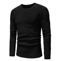 2019 Men Pullover Sweater Slim Basic Knitted Round Neck Shir...
