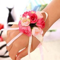 Beautiful Wedding Wrist Flowers Colorful Wraps Decoration Ar...