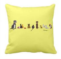 A pata bonito do cão imprime o caso do travesseiro decorativo