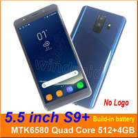 5.5 pollici s9 Plus Quad Core MTK6580 Android 6.0 Smart phone 4GB Doppia SIM fotocamera 5MP 480 * 960 3G WCDMA sbloccato Gesture mobile sveglia wake DHL