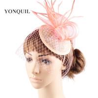 vintage partie des femmes de mariage fascinator chapeaux beau mariage de mariée bricolage accessoires de cheveux de 6pieces / lot Livraison gratuite