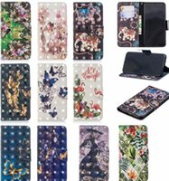 3D Cartoon Leder Wallet Case für Nokia 2.1 3,1 5,1 Huawei P20 Pro Mate 20 10 Lite Y5 2018 Nova 3I Schmetterling Blume Flamingo Flip Cover