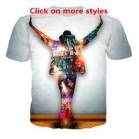 Новая мода пары Мужчины Женщины унисекс король поп-Майкл Джексон смешные 3D печати нет Cap повседневная футболка Футболки Tee Top