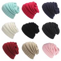 비니 우아한 니트 모자 캡 비니 (17 개) 색상 가을 겨울 캐주얼 캡 야외 따뜻한 모자 24PCS OOA4435