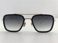 70fe2febcdae8 Hommes   Femme Lunettes de soleil titane or noir   marron gafas de sol  Lunettes de