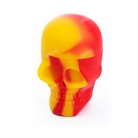 Un soporte para vasos de aceite de silicona 15ML del cráneo tarros rematan Qulity antiadherente Cera de contenedores de almacenamiento de herramientas tarros Grado Alimenticio Para vaporizador de Vape