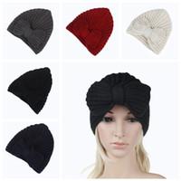 cb9d1f0fe36 Wholesale sports beanies online - 5styles women earmuffs knitted bowknot hat  lady hats crochets knitting beanie