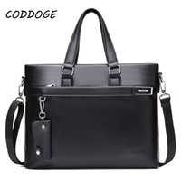 CODDOGE Business Man Bag 14' Loptop High Quality PU Lea...