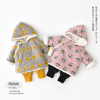 INS baby kids clothing coat hooded cartoon frog duck print l...