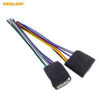 FEELDO 2 PCS Car Radio Fio de Áudio Aapter Plugue para Geely Emgrand CD / DVD Cabo de Falante Estéreo # 2958