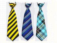 어린이 넥타이 학교 소년 아이들은 탄력있는 넥타이 넥타이 차이 스타일 스타일 레오파드 그레인 디자인 라이트 블루