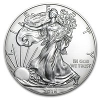 Provningsordern, fri frakt 2016 1 Oz Silver American Eagle Mynt + 2016 Statyn av Liberty Sliver Coin