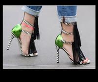 2018 새로운 목록 여름 유럽과 미국의 높은 뒤꿈치 품질 신발 블랙 스트 라이프 단어 cingulate 오픈 토드 섹시한 여자 샌들