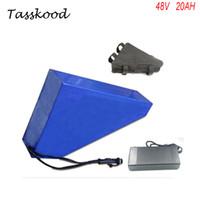 Bateria elektryczna w stylu trójkąta 48V 20ah z 48V 20a rower elektryczny bateria litowo-jonowa 48V Bafang 1000 W bateria litowa