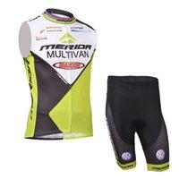 Merida Takımı Bisiklet Kolsuz Jersey Yelek (BIB) Şort Setleri Giyim Nefes Yarışı Yumuşak Cilt Dostu Döngüsü Çok Renkli Isteğe Bağlı Tam Yaz Z40280