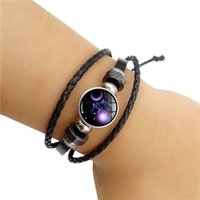 Hot sell 12 constellation bracelet Time gem constellation pe...