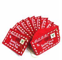 Полноценная вышивка письма стиль рождественские конверты 12 * 8 см Рождественская открытка сумки Рождественская елка кулон праздничная вечеринка поставки