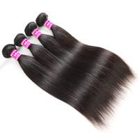 Cabello virgen brasileño Sedoso Cuerpo recto Onda de agua profunda Kinky Curly Paquetes de armadura de cabello humano Extensiones de cabello indio peruano de Malasia