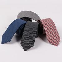 RBOCOTT العلاقات القطن 6.5CM نحيل موضة الأزرق ربطة العنق للرجال عادية سليم الرقبة التعادل الأحمر زفاف الأعمال بدلة حزب الملحقات