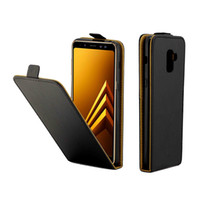 Business Leather Case For Samsung Galaxy A8 2018 Vertical Fl...