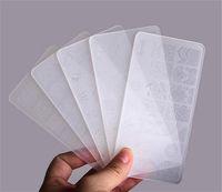 Set di timbratura di plastica Set di stampo Raschietto di arte del chiodo Polacco Stampo di plastica DIY Nail Art Template Set Strumenti di manicure per unghie