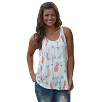 FEITONG Women T- Shirt Vest Tops Flowers Printed Sleeveless S...