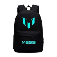 Adolescentes para niños Messi Night-Luminous sport Bags Galaxy School Bag para niños Gift Fans Backpack
