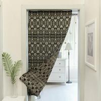 Rideaux en coton style nordique rayé rideau 32in * 55in pour salon blackout porte décor à la maison livraison gratuite