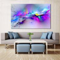Imágenes de la pared para la sala de estar Resumen Pintura al óleo Nubes Colorido Lienzo Arte Decoración para el hogar Sin marco