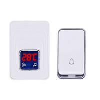 Aucun Batterie Thermomètre Sans Fil Porte Sonnette Porte Cloche Kit Extérieur Intérieur Étanche Plug-in Température Indicateur Affichage