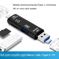 2020 new 3 In 1 USB 3. 1 Type C & Micro USB OTG & USB Card Re...