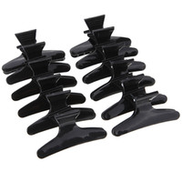 12pcs / set Butterfly Holding Hair Claw Sezione Strumenti per lo styling Clip di capelli Morsetti Forcelle Pro Salon Fix Hair Hair Styling Tool
