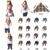 child winter scarf Triangle plaid imitation cashmere Winter ...