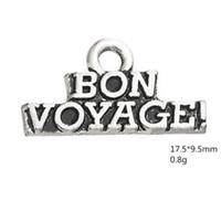 Bon Voyage 최고의 소원 단어 매력 다른 사용자 정의 보석