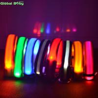 7 ألوان نايلون ليلة السلامة الصمام أضواء طوق الكلب اللمعان الوهج مستلزمات الحيوانات الأليفة الكلب القط المقود