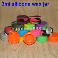 Бесплатная доставка!Прозрачный небольшой круглый силиконовый резиновый контейнер Силиконовый антипригарный контейнер для концентрата антипригарная восковая ванна 3 мл