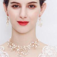 Schmuck Schmuck Sets Hochzeitsschmuck für Frauen Pearl Ohrringe Halskette Hot Mode Kostenlos frei von Versand