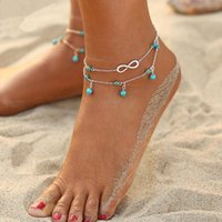 New Infinity Beads Pendant Anklet Foot Chain For Women Lady ...
