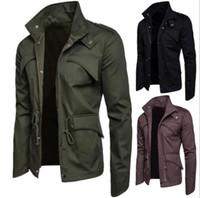 Mens-Designer-Jacken-Normallack-beiläufiger Mantel-Mann-Jacke mit der Tasche und der Bügel-asiatischen Größe geben Verschiffen frei