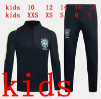 KIDS 2017 Brazil tracksuit training suits Uniforms Chandal 1...
