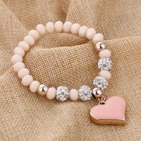 Bracelets Vintage romantique pour les femmes pendentifs bracelets avec cristal Shambhala perles bracelets bijoux