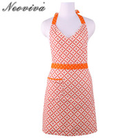 Neoviva Cotton Twill Kitchen Apron for Women with Pocket Mic...