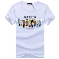 Mens Designer T Shirts Alta qualità Moda Tide Shoes Stampato Uomo Tshirt Tee Shirts Tops Uomo T-Shirt Multiple Color selezionabile