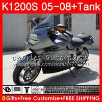 Corpo para OEM K-1200S K 1200 S 05 10 K1200 05 06 07 08 09 10 Cinza prateado 103hm.28 K 1200S K1200S 2005 2006 2007 2009 2010 2010 Kit de Fairing