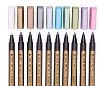 ستا لامع لون القلم علامات اللوحة أقلام متوسطة طرف أقلام معدنية الفن ماركر الدائم لوازم الكتابة المدرسة