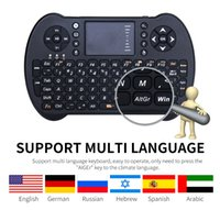 2.4G Mini USB Keyboard Wireless Touchpad mouse Air Mouse russo inglese Remote Control per Android TV Box PC Laptop