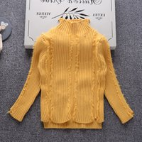 7b694fae12 Wholesale cute turtleneck sweaters online - Girls Sweater Turtleneck Baby  Pullover Solid knit Kids Clothes Autumn