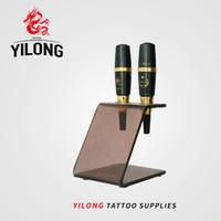 Yilong 1pc New Acrylic Eyebrow Machine Holder Stativ Stativ Tattoo Guns Rest Organzie Kit levererar gratis frakt