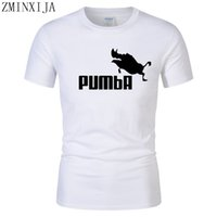 funny tee cute t shirts homme Pumba men short sleeves cotton...